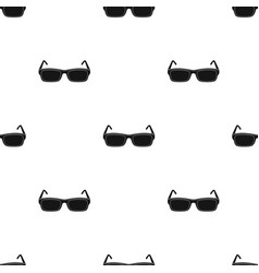 Glasses icon in black style isolated on white vector