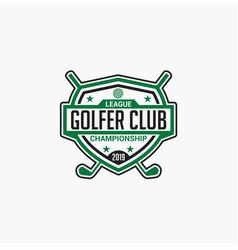 golf club badge logo-12 vector image