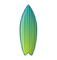 green surfboard icon cartoon style vector image