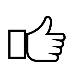 hand trumb up monochrome isolated vector image