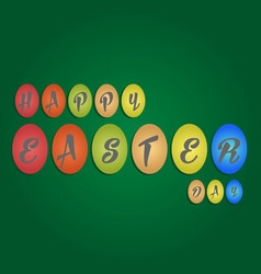 happy easter day with egg and text vector image