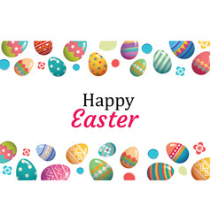 Happy easter egg background templatecan be used vector