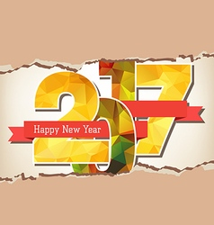 Happy new year 2017 paper vector