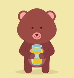 honey and bear vector image