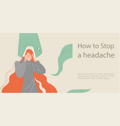 How to stop a headache symbolic image vector