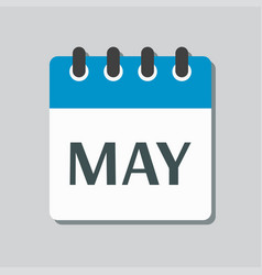 icon day calendar spring month may vector image