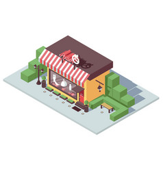 isometric store front for atelier or tailor vector image