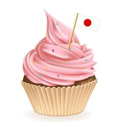 Japanese Cupcake vector