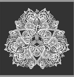 lace tribal mandala vector image