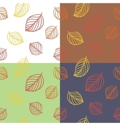 leaves seamless pattern vector image