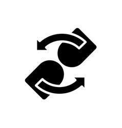 loading black glyph icon vector image