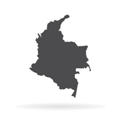 Map colombia isolated black vector