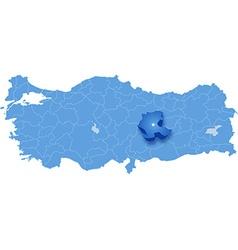 Map of Turkey Malatya vector