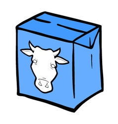 milk box vector image