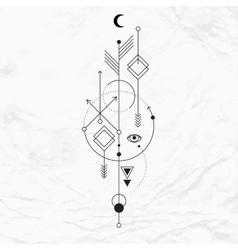 Modern geometric alchemy symbol vector image