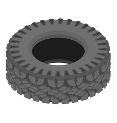 Motoring tyre icon isometric style vector