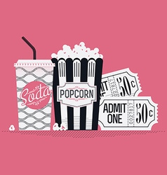 Movie Item Icons vector image