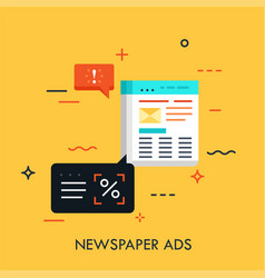 Newspaper ads concept vector