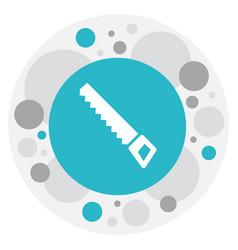 of gardening symbol on hacksaw vector image