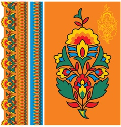 Oriental - Indian - Floral Design Elements vector image