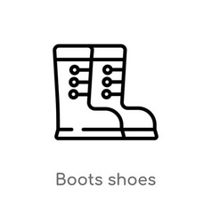 outline boots shoes icon isolated black simple vector image