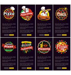 Pizza restaurant and pizzeria vector