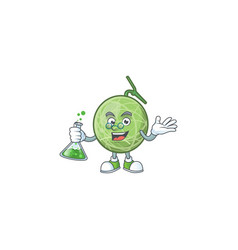 Professor melon cartoon mascot on white background vector
