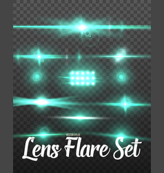 realistic lens flare set vector image