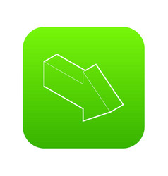 right arrow icon green vector image