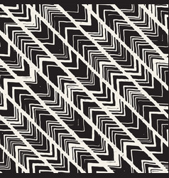 seamless freehand pattern doodle monochrome print vector image