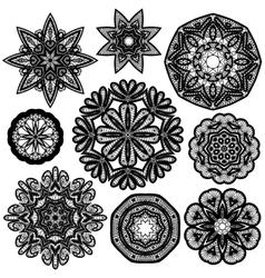 Set circle lace 1 380 vector