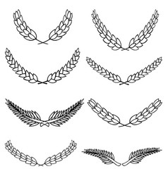 Set of laurel wreath vector