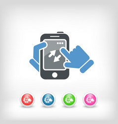smartphone icon file transfer vector image