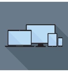 Smartphone Tablet Laptop and Desktop Computer vector image