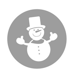 Snowman comic character icon vector