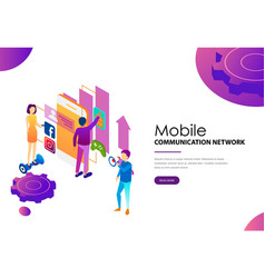 Social modern mobile communication network for vector