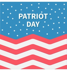 Star sky Red and white Strip ocean Patriot day vector image