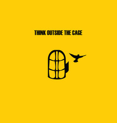 Think outside the cage vector image