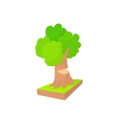 Tree to saw cut icon cartoon style vector image