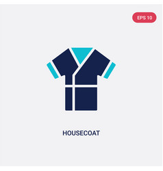 two color housecoat icon from clothes concept vector image