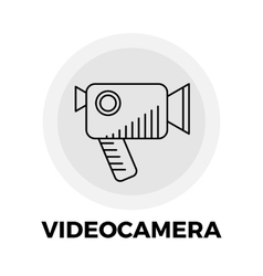 Videocamera line icon vector