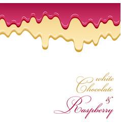 white chocolate jam raspberry seamless pattern vector image