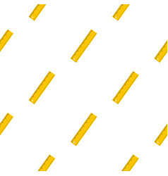 Yellow ruler pattern seamless vector