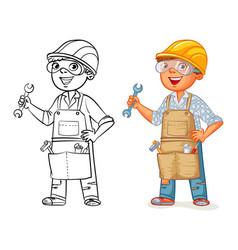 construction worker in uniform vector image