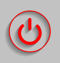on off switch sign red icon with soft vector image vector image