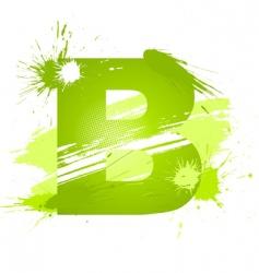 paint splashes font letter b vector image vector image