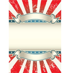 usa colors poster vector image vector image