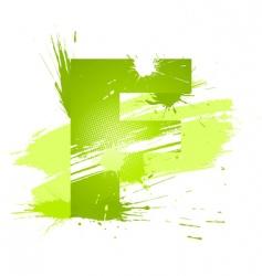 font letter f vector image