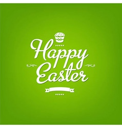 Happy Easter Green Card vector image vector image