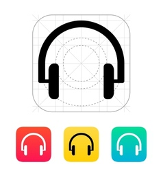 Headphones icon vector image
